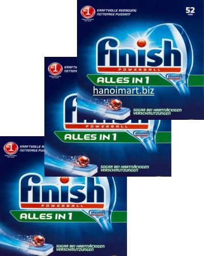 viên rửa bát finish all in one 110 viên giá rẻ nhất hiện nay