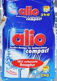 Khử sạch vi khuẩn với bột rửa chén Alio dạng túi mới