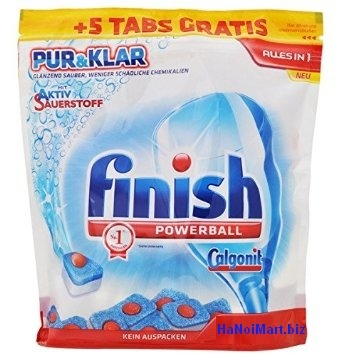 viên rửa bát finish 53 tabs all in one pur & clar