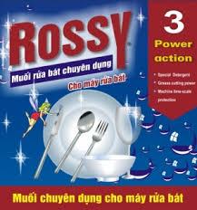 Thành phần đặc biệt trong muối rửa chén đĩa Rossy giúp khử tối đa