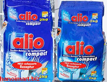 bột rửa bát alio compact 2kg chuyên dùng cho máy rửa bát