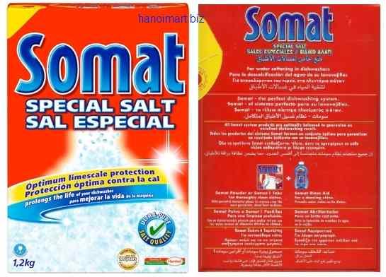 muối rửa bát somat nhập khẩu chuyên làm mềm nước trong máy rửa bát