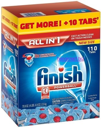 viên rửa bát finish all in one 120 tabs