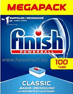 viên rửa bát finish 100 viên classic nk châu âu