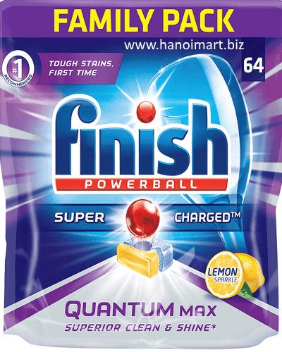 viên rửa bát finish 64 viên quantum max nhập khẩu châu âu