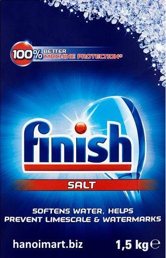 Muối rửa bát Finish salt 1.5kg dùng cho Máy rửa bát