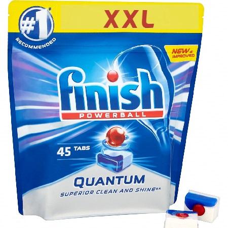 viên rửa bát finish quantum max 14 in 1 túi 45 viên