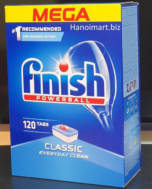 Viên rửa bát finish 120 viên nhập khẩu chính hãng