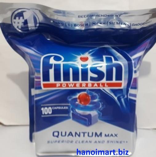 Viên rửa bát finish Quantum Max 100 viên dùng cho máy rửa bát chén